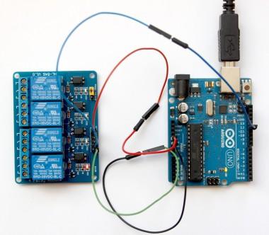 Arduino z modułem przekaźnikowym