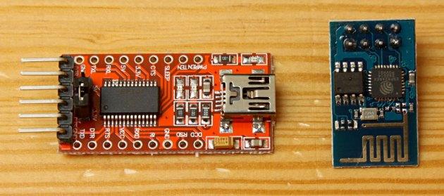 ESP8266 i FTDI232