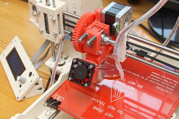 Graber i3 - ekstruder z filamentem PET-G