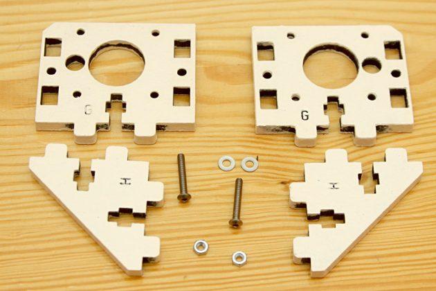 Graber i3 - uchwyt silników osi Z