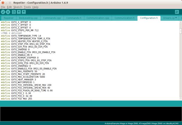 Konfiguracja - Repetier Firmware