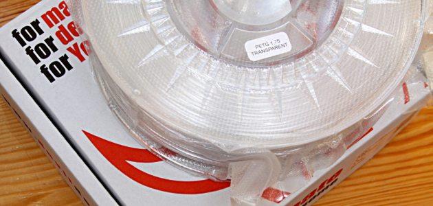 Filament PET-G przezroczysty