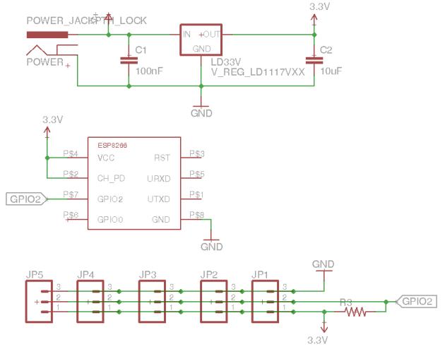 Schemat termometru wifi na ESP8266