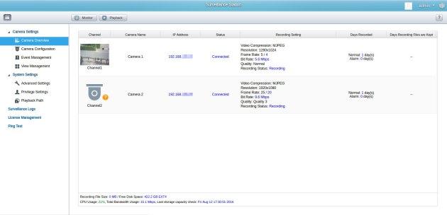 QNAP NAS - monitoring IP