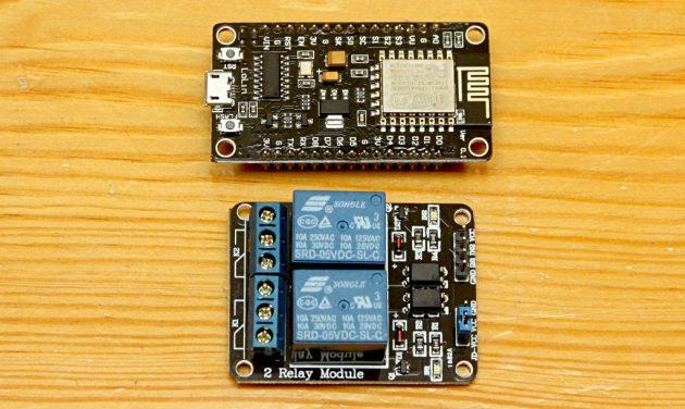 NodeMCU i moduł przekaźników