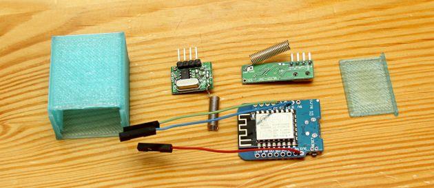 Zestaw elementów do budowy nadajnika lub odbiornika