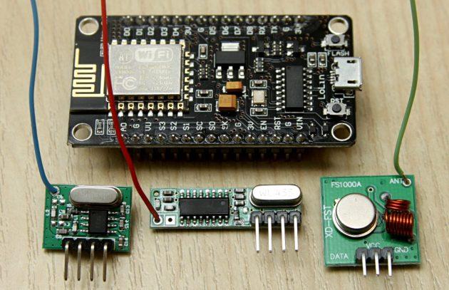 NodeMCU i moduły radiowe