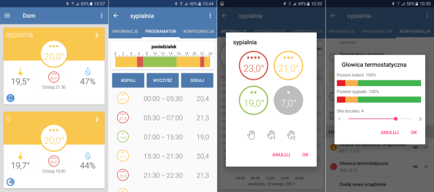 Interfejs systemu Bero - Android
